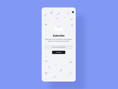 Daily UI 26 - Subscribe minimal design web subscription subscribe ux webdesign app dailyui ui challenge ui