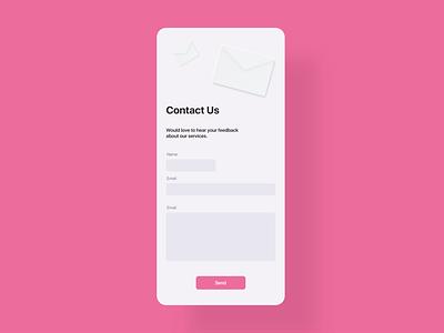 Daily UI 28 - Contact Us neumorphic neumorphism neumorph soft ui minimal web webdesign dailyui ui challenge ui