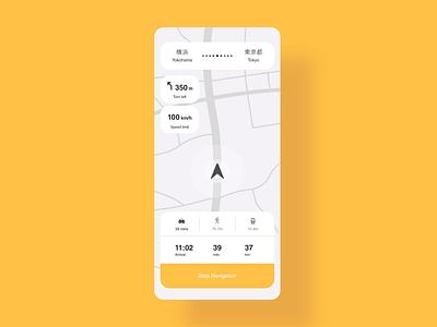 Daily UI 29 - Map navigate navigator gps navigation maps map minimal design dailyui ui challenge ui