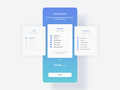 Daily UI 30 - Pricing packages package pricing plans pricing plan pricing page pricing minimal webdesign web dailyui design ui challenge ui