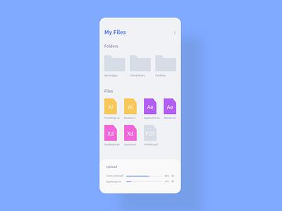 Daily UI 31 - File Upload files file folder file upload webdesign app minimal dailyui ui challenge ui