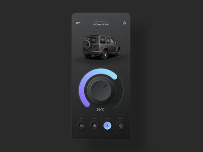 Daily UI 34 - Car Interface dashboard car interface car dark mode dark ui neumorphic neumorphism neumorph minimal design webdesign dailyui ui challenge ui