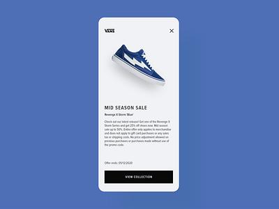 Daily UI 36 - Special Offer discount special offer vans shoes app shoes app webdesign design dailyui ui challenge ui