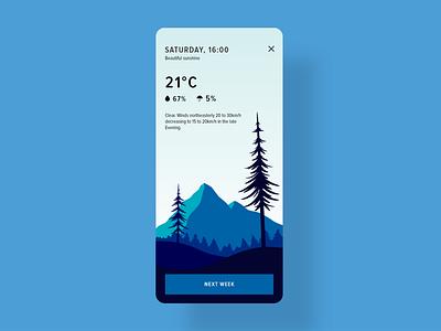 Daily UI 37 - Weather nature app weather forecast weather app weather minimal illustration webdesign dailyui design ui challenge ui