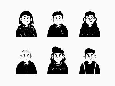 People portrait illustration portrait illustrator people illustration people character design characters avatar icons icons illustrations illustration avatar design avatar