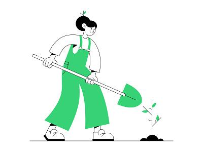 Tree planting forest trees tree plant illustrator ux ui challenge dailyui app graphic design illustration web ui webdesign design