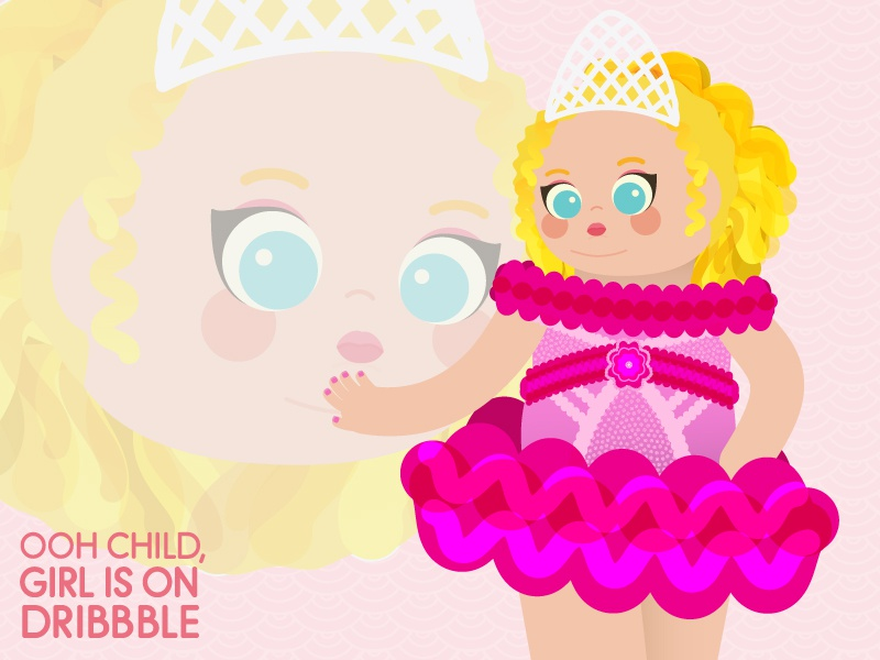 first dribbble post debut design typography illustration first pink honey booboo toddlers and tiaras sass rounded san serif vector that face tho