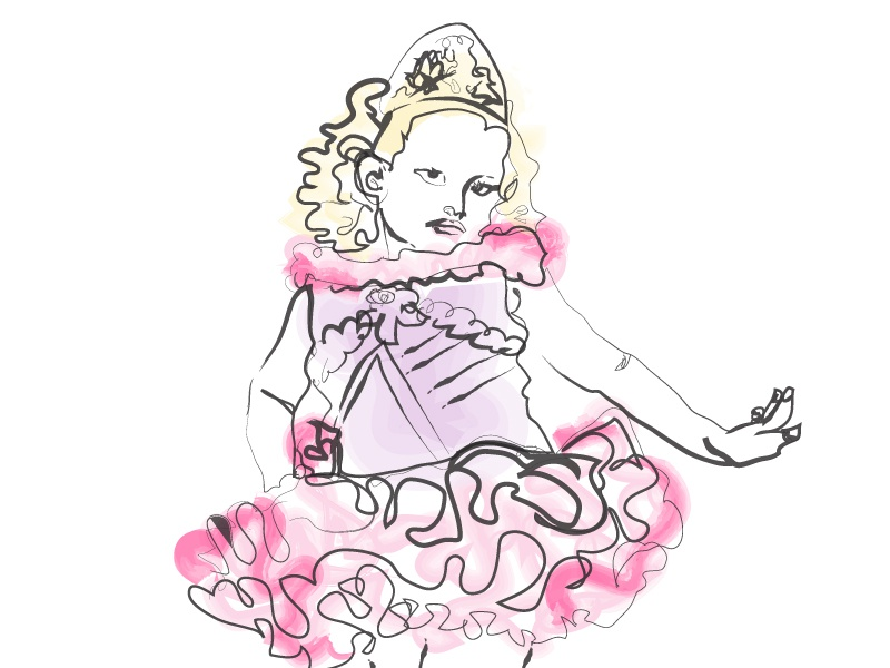 booboo, round 2 illustration vector pink watercolor honeybooboo fashion illustration rebound sketch todlers and tiaras