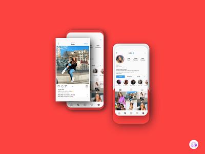 User Profile followers active experience user mobile navigation map minimal interface design app ui