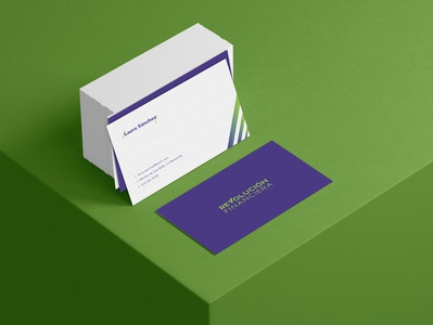 Financial Revolution- Business Card evolution angle business card business cards business businesscard business card design purple lines design brand green branding