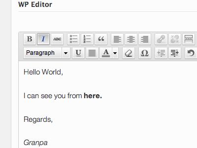 SMOF Editor wordpress smof theme options ui