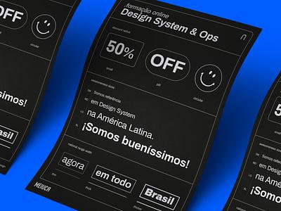 Formação Online em Design System & Ops poster online design ops design system design
