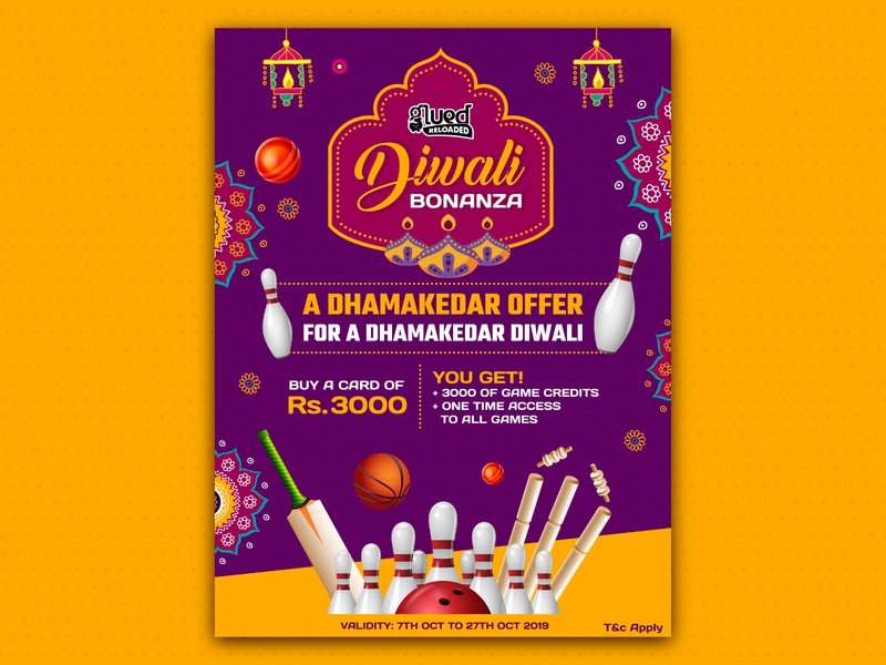 Poster Design For Diwali Offer