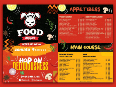 Menu Design For Food Hopper