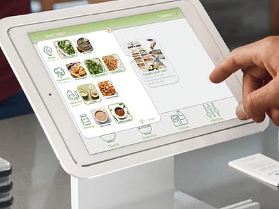 Sweetgreen Checkout Tablet design illustration branding ux ui checkout page checkout salad sweetgreen