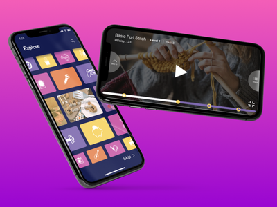 Hobbess- Explore new Hobbies tutorial video app baking knitwear knitting design illustration ux ui hobbies
