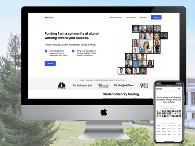 Florian Student Loans design loans student website web ux ui student loans