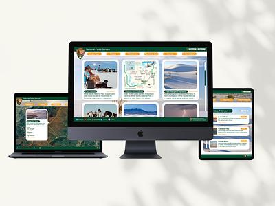 White Sands National Park Website camping vacation illustration app design ux ui webdesign web nature national parks national park