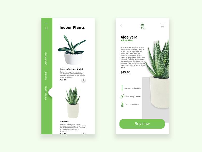 Plant UI design app design eco green design uidesign flower garden ui app plant