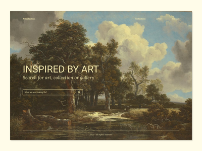 Inspired by Art websitedesign uiux ux art website uidesign design clean ui