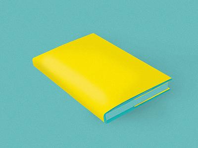 Book  yellow blue blank book design illustration book