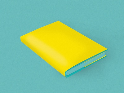 Book  yellow blue blank book design illustration book