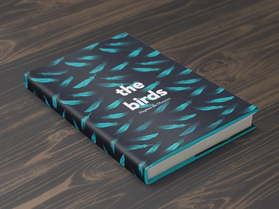 The Birds cover design book design hardback feathers birds the birds mockup concept design book cover
