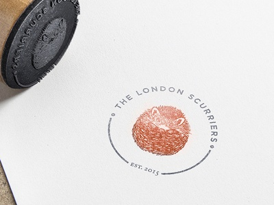 London Scurriers logo design run club running logo hedgehog