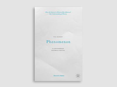 The Memory Phenomenon paper memory typography book cover cover design book cover design