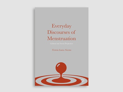 Everyday Discourses of Menstruation typography illustration book cover cover design book cover design