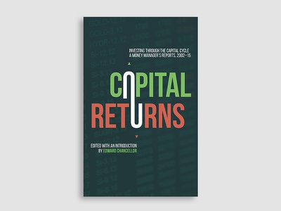 Capital Returns  stocks stock market typography book cover cover design book cover design
