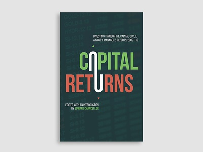 Capital Returns  stocks stock market typography book cover cover design book cover design