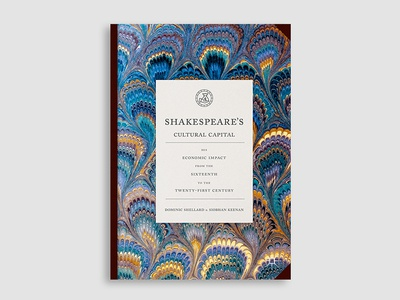Shakespeare's Cultural Capital historical typography illustration book cover cover design book cover design