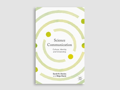 Science Communication  green cover book design communication atoms book science cover design book cover