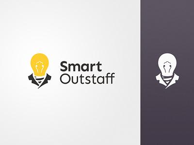 Smart Outstaff Logo people logo bulb logo logodesign logotype brand business people staff bulb color design vector icon illustration branding logo
