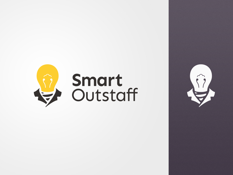 Smart Outstaff Logo people logo bulb logo logodesign logotype brand business people staff bulb color design vector icon illustration branding logo