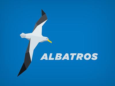 Albatros logo gray albatros bird blue logo