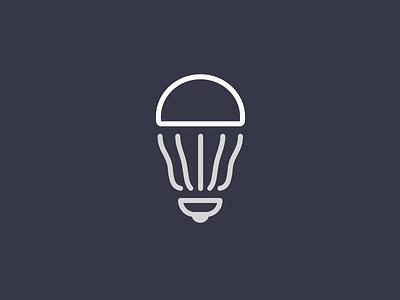 Led Bulb white line grey icon led bulb led