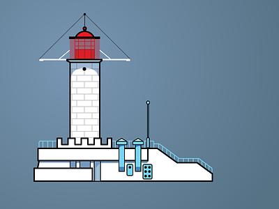 Odessa Lighthouse illustration lighthouse odessa drawing