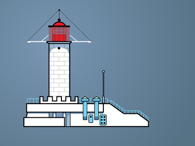 Odessa Lighthouse illustration lighthouse odessa drawing