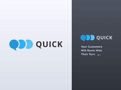 Quick Logo color logotype quick logo design gray blue