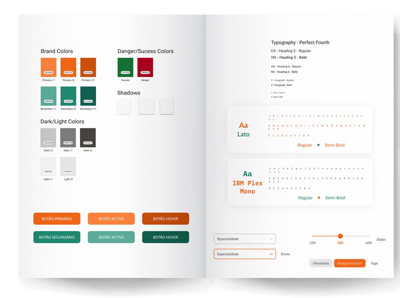 Atomic Design OrangeApp atomic design design system nutrition app nutrition uxui ui  ux uiux uidesign ui app