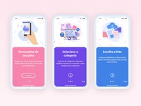 Onboarding - Sticky mobile app design mobile design mobile app mobile ui walkthroughs walkthrough onboarding screens onboarding screen mobile design uxdesign uxui ui  ux uiux onboarding ui onboarding uidesign ui app