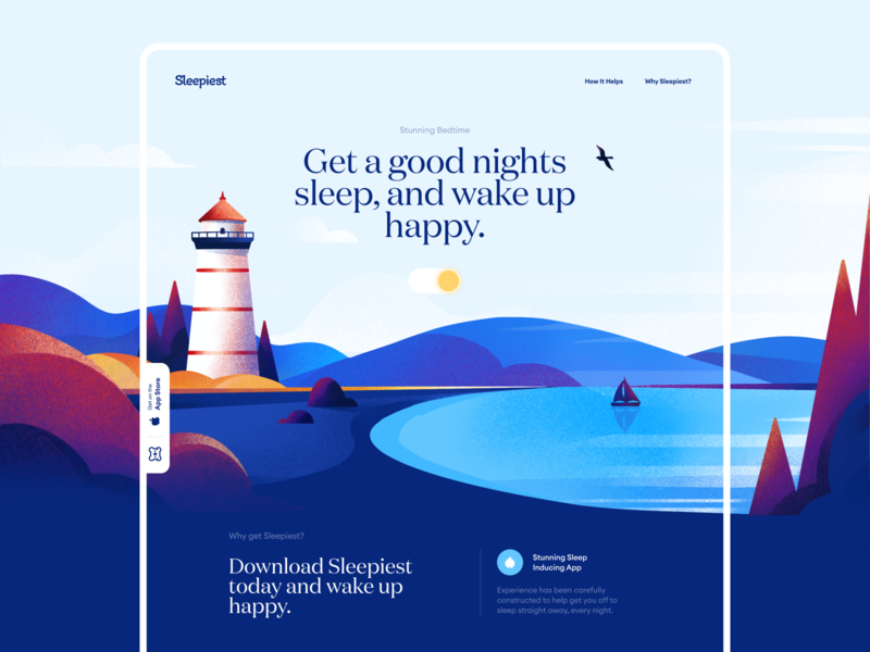Sleepiest Start Page Design