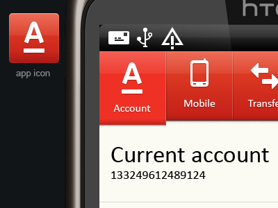 Bank-client for Android app android ui htc icon app
