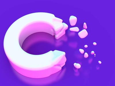 Marshmallow Cuberto shape model cube 3d animation zefir marshmallows cinema4d design app graphics ux ui cuberto