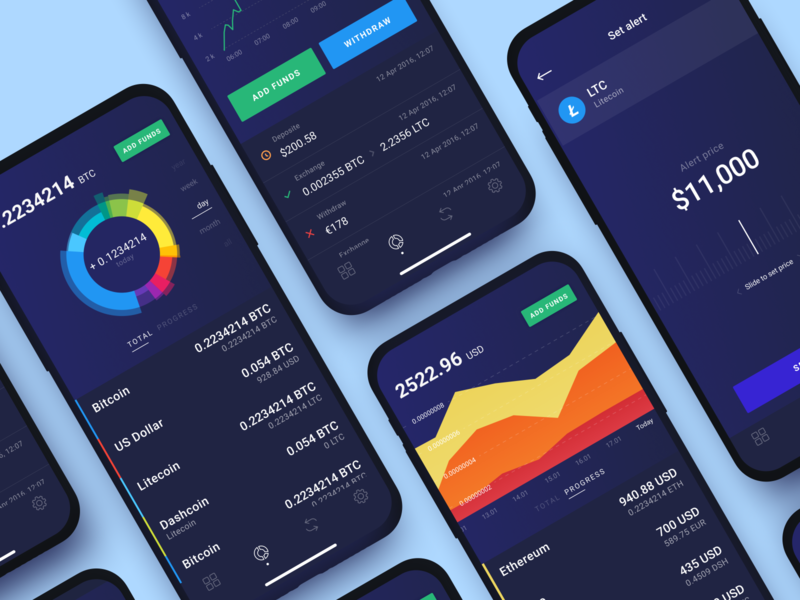 Cryptocurrency Trading Platform chart dashboad balance mobile finance exchange crypto wallet trading design illustration app graphics icons ux ui cuberto