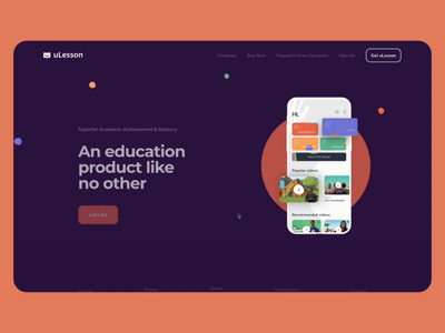 uLesson Digital Learning Platform online product session exam tutorial lesson learning education interaction animation web design illustration graphics icons ux ui cuberto