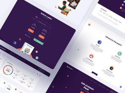uLesson Education Platform student platform school home teacher lesson math education learning web app illustration graphics icons ux ui cuberto