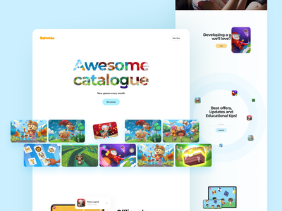 Papumba Landing Page landing page web fun preschooler kids education academy interface illustration app graphics icons ux ui cuberto